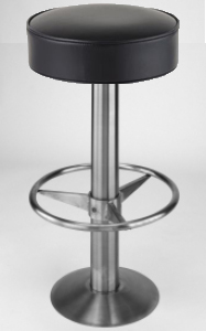 Roswell Bolt Down Permanent Mount Stainless Steel Bar Stools